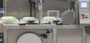 упаковка свежих овощей в термоусадочную пленку